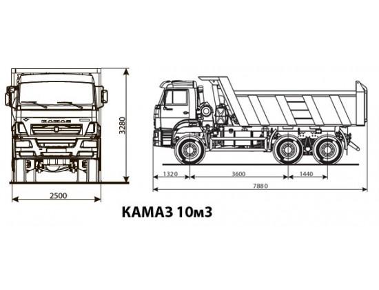 КАМАЗ 3-х осный грузоподъемность 16 тн
