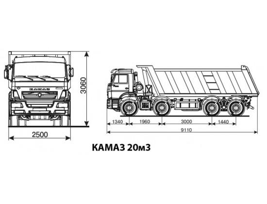 КАМАЗ 4-х осный грузоподъемность 32 тн